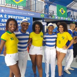 Transmissão do jogo Brasil x Bélgica vai agitar quadra da Portela nesta sexta-feira