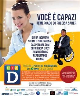 Portela receberá feira de empregos para pessoas com deficiência no dia 28