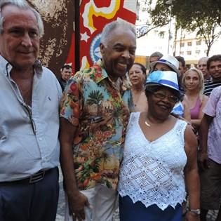 Tia Surica e Gilberto Gil inauguram painel na Cinelândia