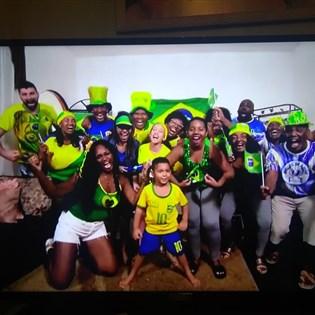 Família de portelenses é destaque em matérias do 'Fantástico' sobre a Copa